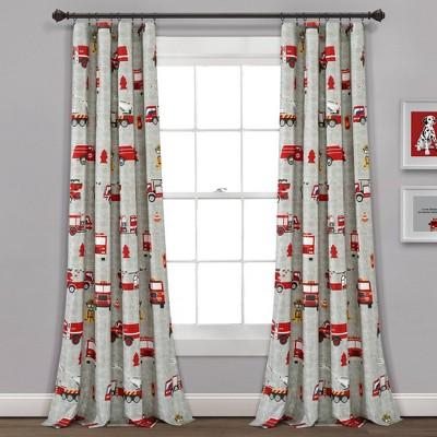 "52""x84"" Make A Wish Fire Truck Window Curtain Panels Set - Lush Décor"