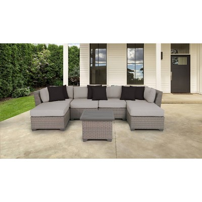 Florence 7pc Outdoor Sectional Seating Group with Cushions - TK Classics