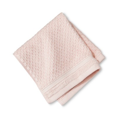 Washcloth Performance Texture Bath Towels And Washcloths Porcelain Pink - Threshold™