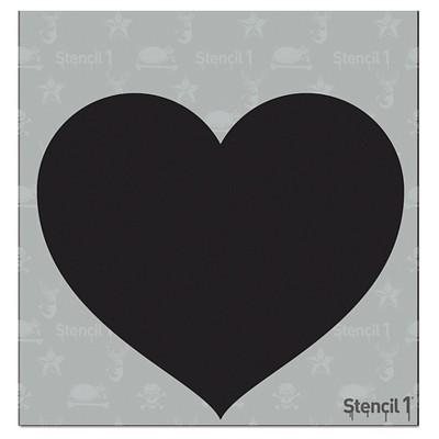 """Stencil1 Tattoo Heart - Stencil 5.75"""" x 6"""""""