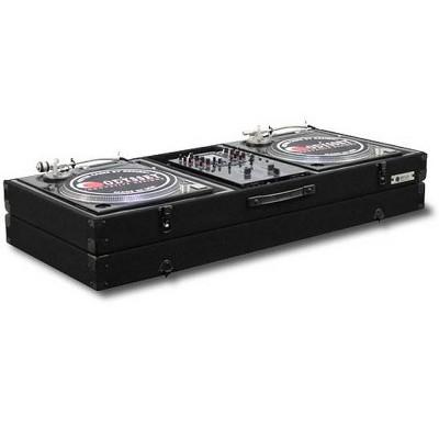 Odyssey Economy Battle Mode Pro DJ Turntable Mixer Coffin Case - Black (2 Pack)