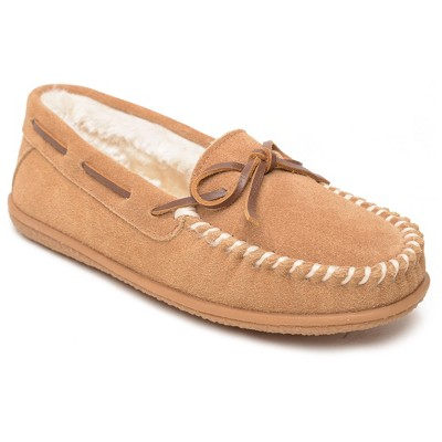 Minnetonka Women's Suede Camp Tie Moc Slipper