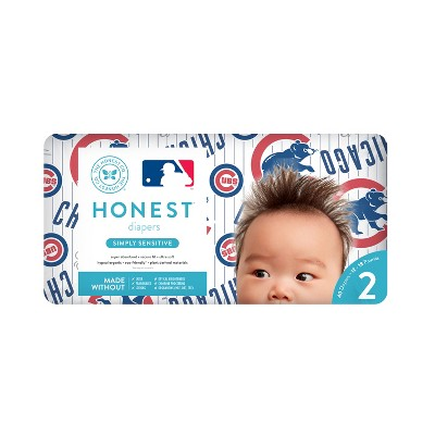 Honest Company Diapers, Chicago Cubs - Size 2 (40ct)