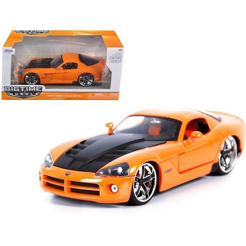2008 Dodge Viper SRT10 Orange 1/24 Diecast Car Model by Jada - image 1 of 1