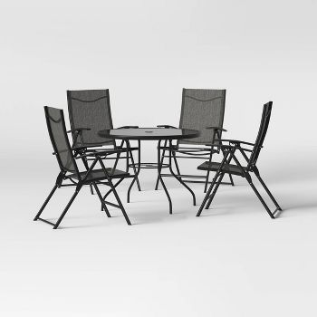 Project 62 Kingman 5-Piece Sling Folding Patio Dining Set