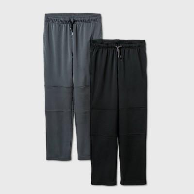 Boys' 2pk Activewear Pants - Cat & Jack™ Black/Gray