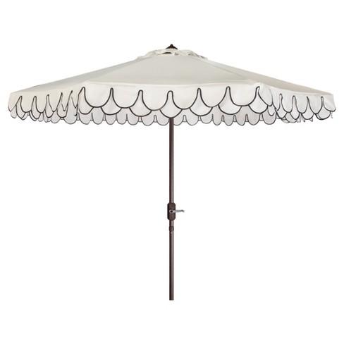 9' Elegant Valance Umbrella - Safavieh - image 1 of 3