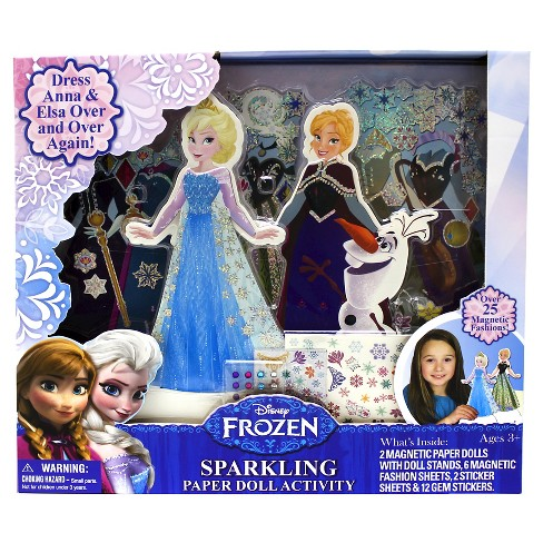 Frozen Sparkling Paper Dolls - image 1 of 2