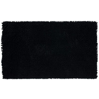 20 x34  Chunky Chenille Memory Foam Bath Rugs & Mats Black - Room Essentials™