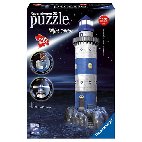 Ravensburger Night Edition: Lighthouse With LED 3D Puzzle 216pc - image 1 of 2
