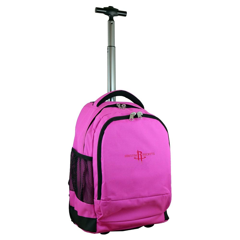 NBA Houston Rockets Mojo Premium Wheeled Backpack - Pink