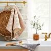 2pk Striped Kitchen Towel Set Railroad Gray/Pumpkin Brown - Hearth & Hand™ with Magnolia - image 2 of 3