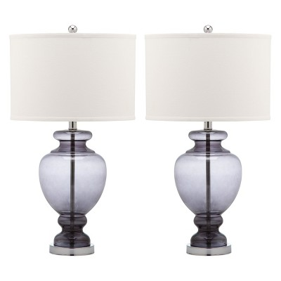 Clear Glass Table Lamp - Gray (Set of 2)- Safavieh®