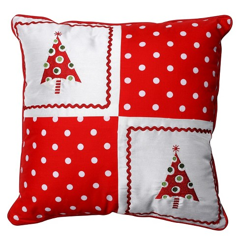 """Pillow Perfect Christmas Trees Throw Pillow - 16.5""""x16.5"""" - Multicolored - image 1 of 2"""