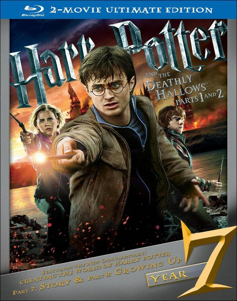 Harry Potter and the Deathly Hallows: Parts 1 and 2 [Ultimate Edition] [6 Discs] [Blu-ray] - image 1 of 1