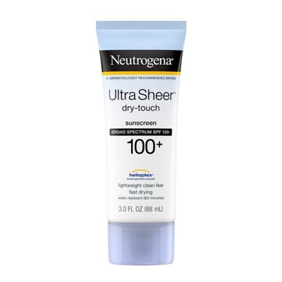 Neutrogena Ultra Sheer Dry Touch Water Resistant Sunscreen - SPF 100 - 3 fl oz