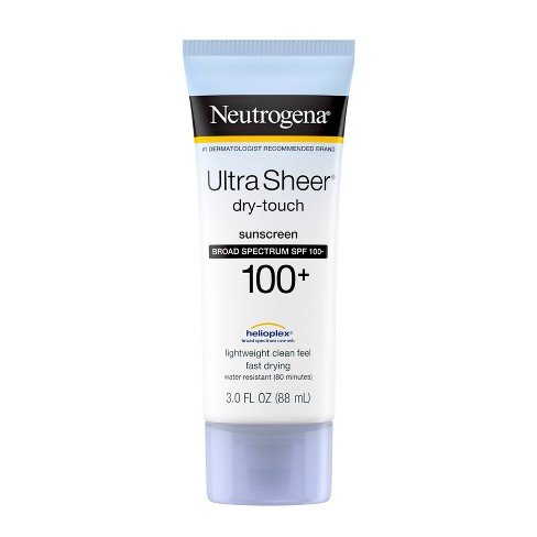 Neutrogena Ultra Sheer Dry Touch Water Resistant Sunscreen - SPF ...