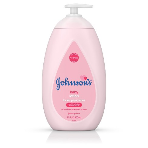 Johnson's Moisturizing Pink Baby Lotion with Coconut Oil - 27.1oz - image 1 of 9