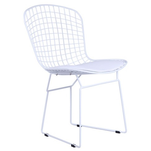 White Wire Side Dining Chair - White - Fine Mod Imports - image 1 of 3