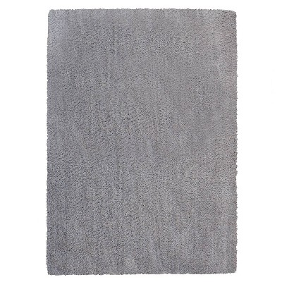 5'x7' Kids' Microfiber Shag Rug Gray - Gertmenian