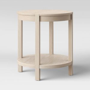 Porto Round Wood Accent Table Bleached Wood Project 62 Target