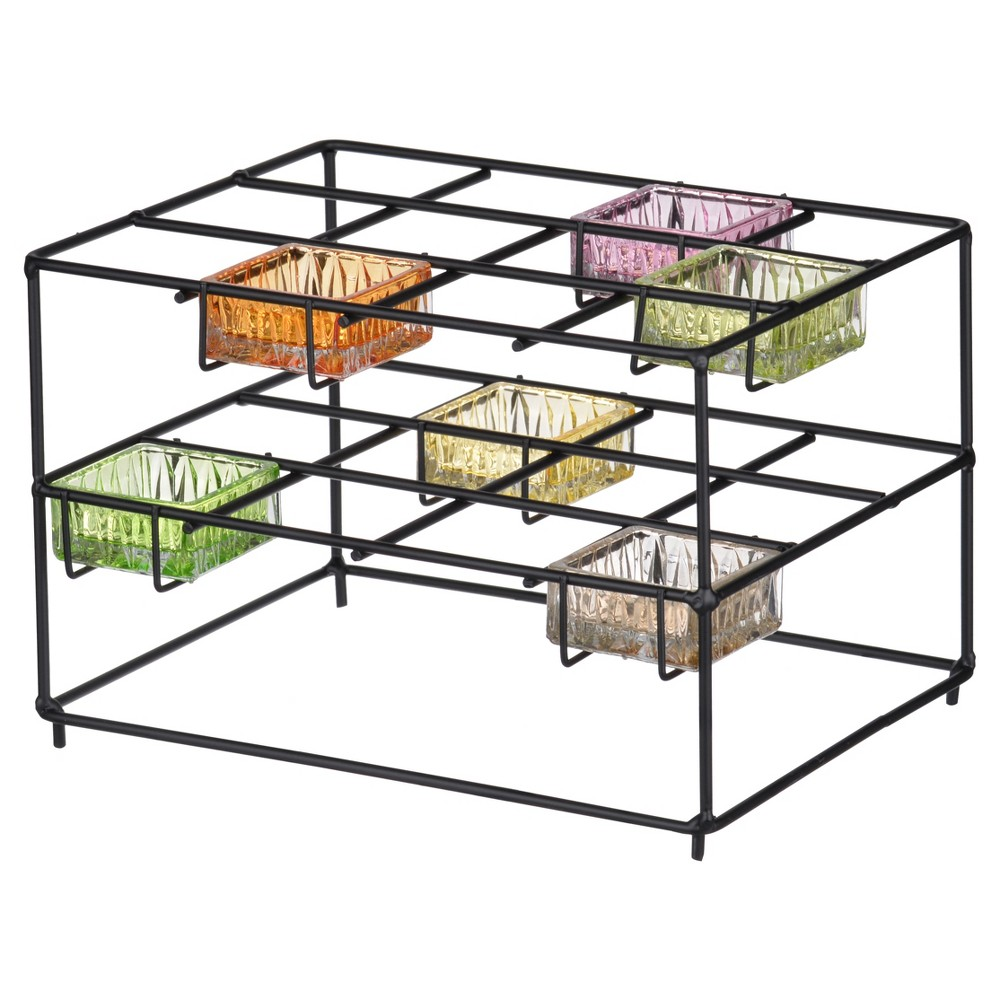 Image of Jurupa 2-Tier Candle Stand Black - A&b Home
