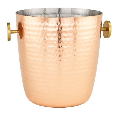 Old Dutch 5qt Stainless Steel Hammered Aura Champagne Bucket Copper
