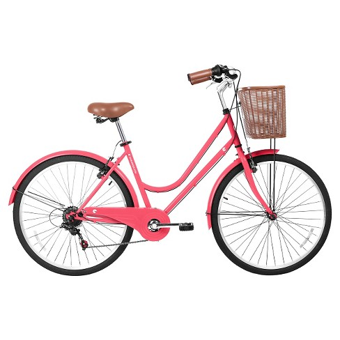 "Gama Bikes Women's Basic 26"" 6-Speed Urban Hybrid Commuter - Coral - image 1 of 2"