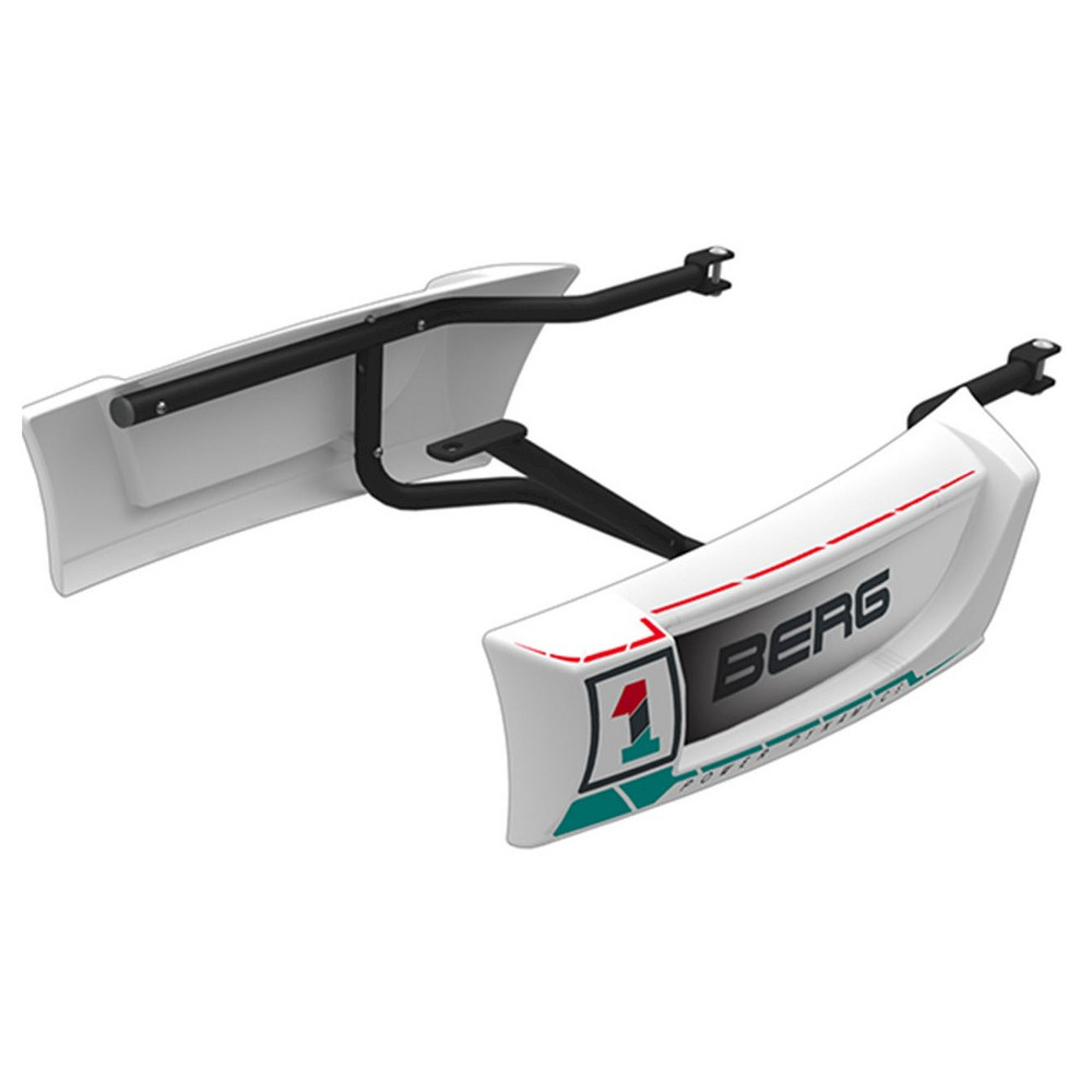 Berg Side Skirts- Race, Pedal and Push Riding Toys Cool side skirts are available that have been specially designed for the Berg Race pedal kart. Make your Berg Race complete with side skirts in matching white with stickers. The side skirts give your go-kart more body, and you will feel even more as though you are really sitting in a racing car. Gender: Unisex.