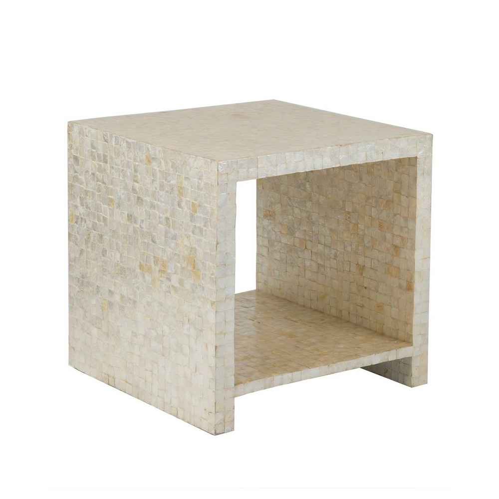 Martin Capiz Shell End Table White - East At Main