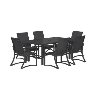 Cosco 7pc Steel Patio Dining Set - Navy