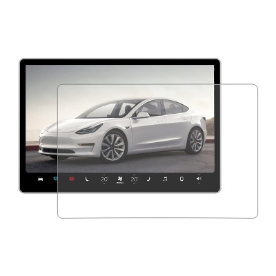 """Lectron 15"""" HD Tempered Glass Screen Protector Compatible with Tesla Model 3 Center Touchscreen - Fingerprint and Scratch Resistant"""