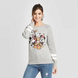 Women's Disney Fab Five Sweatshirt (Juniors') - Heather Gray XL