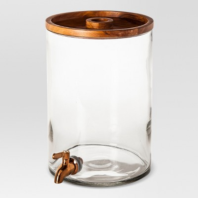 2gal Glass Modern Beverage Dispenser - Threshold™