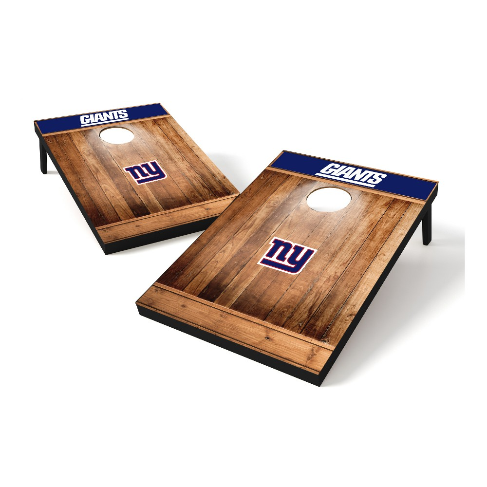 New York Giants Wild Sports 2x3 Rustic Wooden Plaque Tailgate Toss