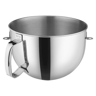 KitchenAid 6 Quart Stainless Steel Mixer Bowl with Comfort Handle - KN2B6PEH