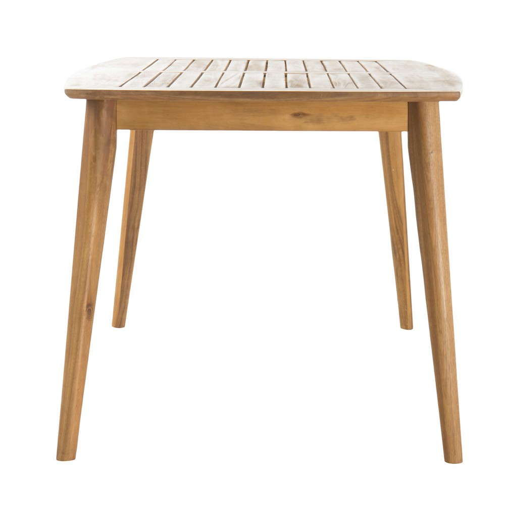 Sunqueen Rectangle Acacia Wood Dining Table - Teak (Brown) Finish - Christopher Knight Home