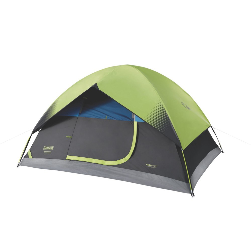 Image of Coleman 4-Person Sundome with Easy Setup Tent, Green