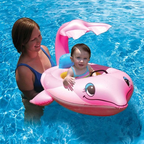 Poolmaster Dolphin Baby Seat Float - Pink - image 1 of 2