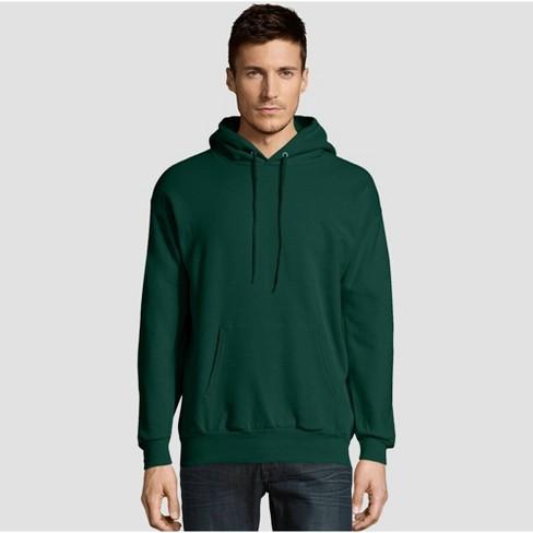 1 Deep Forest Hanes Mens EcoSmart Hooded Sweatshirt Large 1 Black