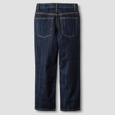 47fd726dcd89 Boys  Relaxed Straight Fit Jeans - Cat   Jack™ Dark Wash   Target