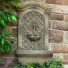 "31""H Rosette Leaf Outdoor Electric Wall Fountain - Florentine Stone Finish - Sunnydaze Decor - image 3 of 4"