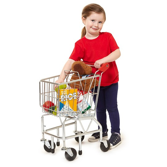 Melissa & Doug Toy Shopping Cart With Sturdy Metal Frame image number null