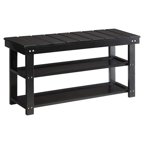 Oxford Utility Mudroom Bench - Black - Convenience Concepts - image 1 of 3