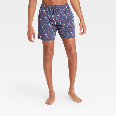 Men's Marvel Pajama Shorts - Navy Heather
