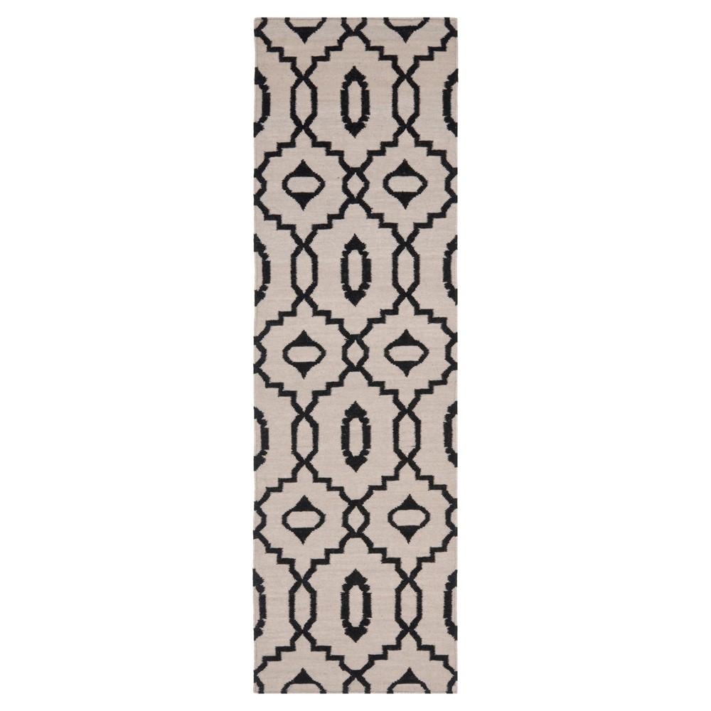 Mona Dhurry Rug - Ivory/Black - (2'6x8') - Safavieh