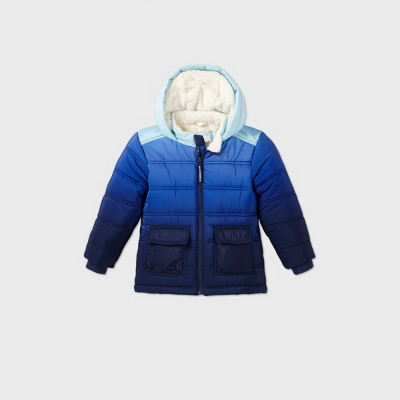 Toddler Boys' Ombre Puffer Jacket - Cat & Jack™ Blue 4T
