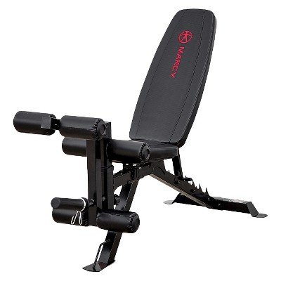Marcy Deluxe Utility Weight Bench - Red/Black