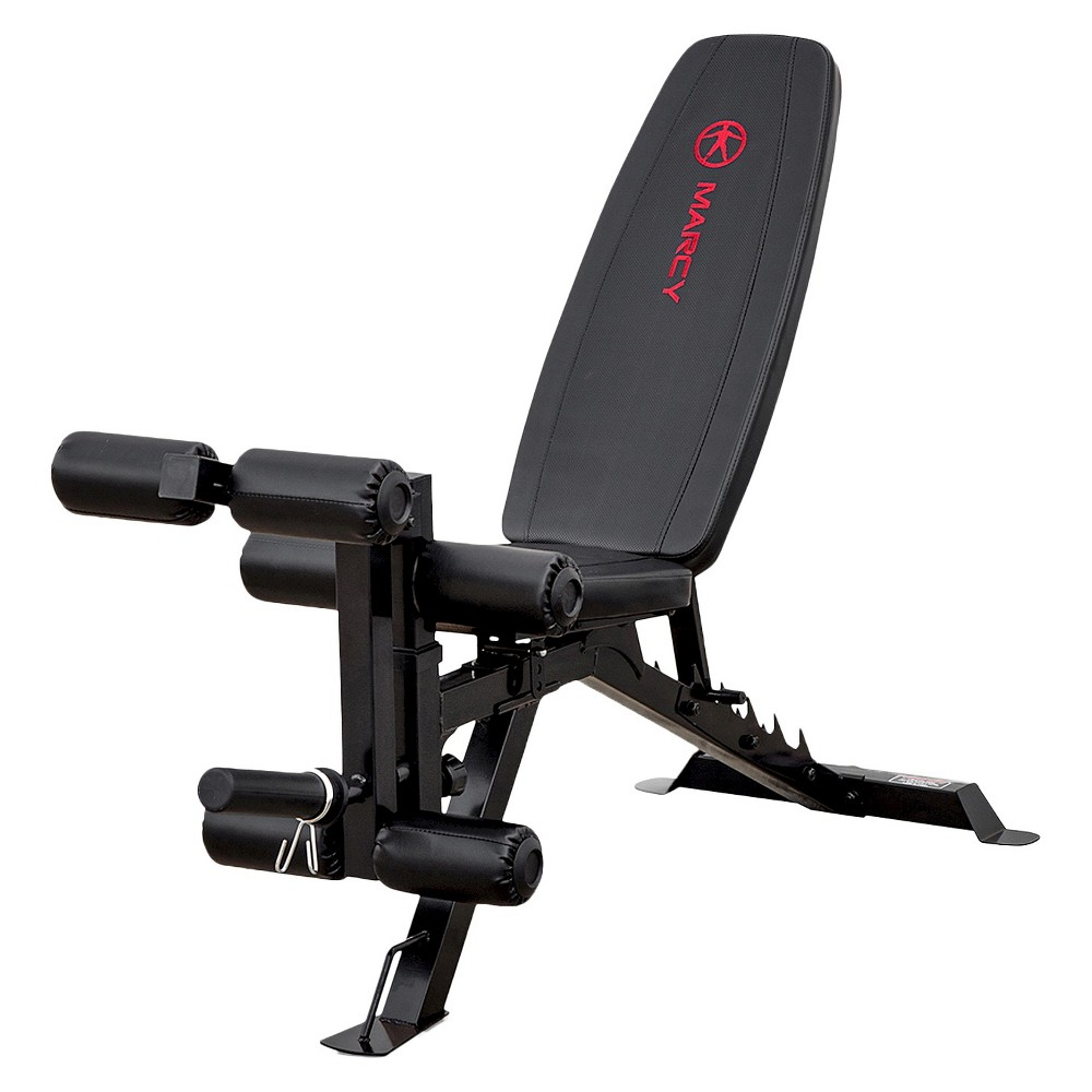 Marcy Deluxe Utility Weight Bench (SB-350), Black/Red