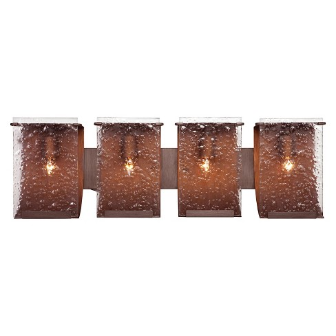 Rain 4 Light Bath Fixture - Hammered Ore - image 1 of 2